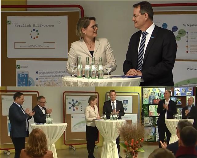 Besuch der Bildungsministerin Dr. Stefanie Hubig und des BASF-Vorstandsmitglieds Michael Heinz